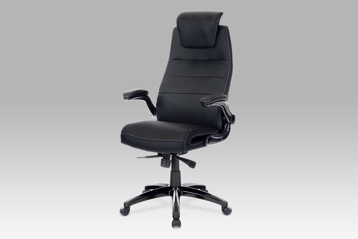 kancelářská židle Smooth - Kancelářská židle (černá, koženka)