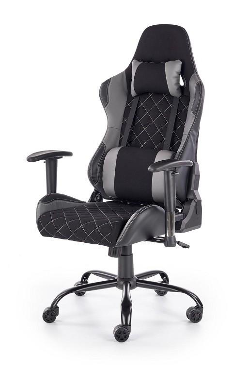 Kancelářské a herní židle Herní židle Lets Play černá, šedá