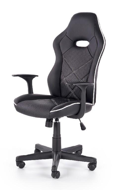 Kancelářské a herní židle Herní židle Singleplayer černá, bílá