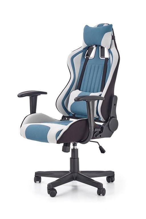 Kancelářské a herní židle Herní židle War Mist šedá, tyrkysová