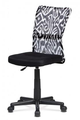 Kancelářské a herní židle Kancelářská židle Alice černá, bílá