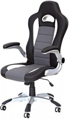 Kancelářské a herní židle Kancelářská židle Lotus (černošedá)