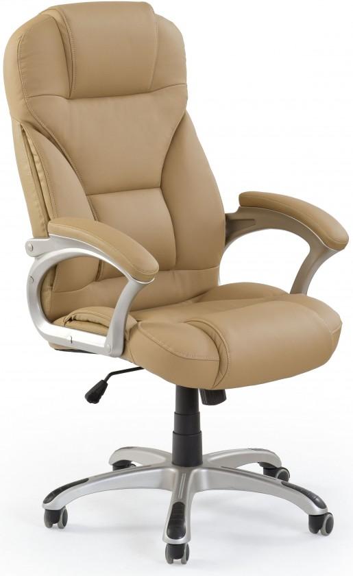 Kancelářské a herní židle Kancelářské křeslo Carlos, hnědá