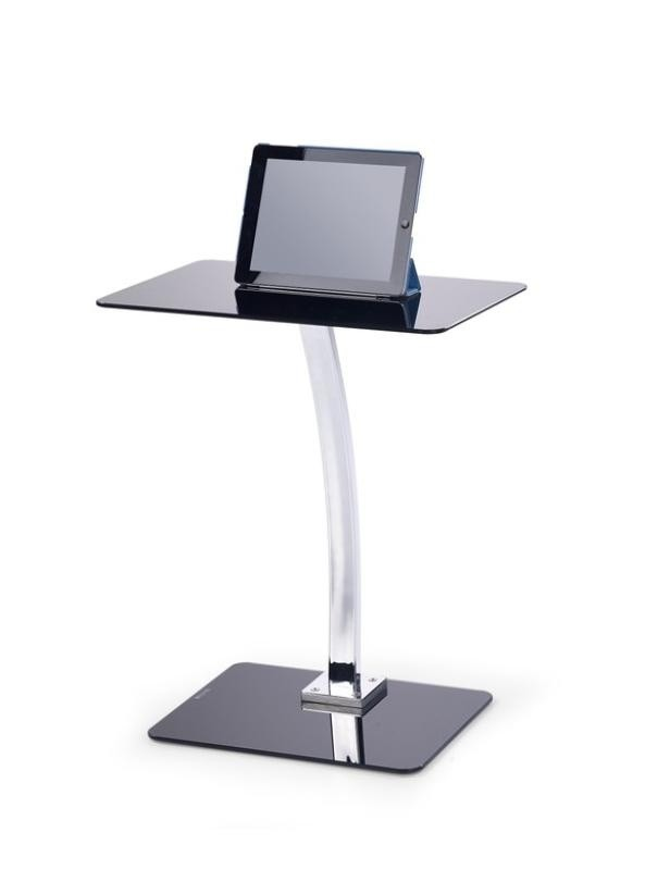 Kancelářský stůl B25 (Sklo černá/Chrom)