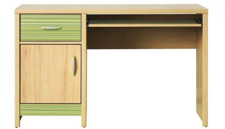 Kancelářský stůl Codi CD 11 (višeň cornvall/zelená)