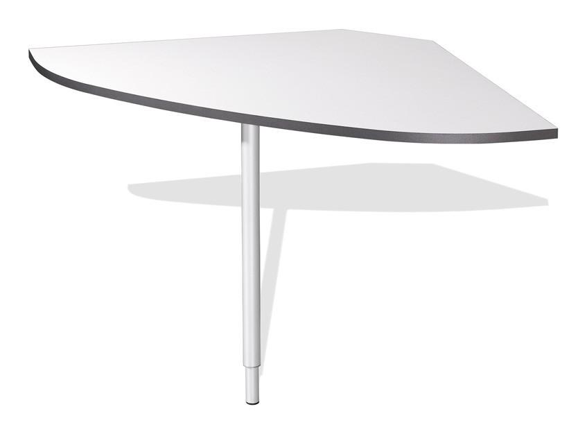 Kancelářský stůl GW-Linea - spojovací roh stolu (antracit / bílá)