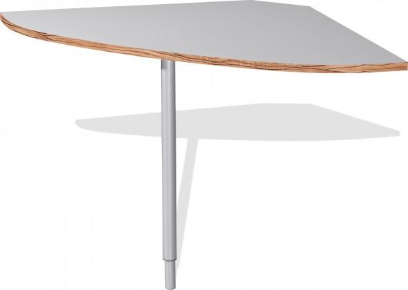 Kancelářský stůl GW-Linea - spojovací roh stolu (baltimorský ořech / bílá)