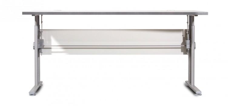 Kancelářský stůl GW-Profi-Stůl,výškově stavitelný,šířka 160cm (světle šedá)