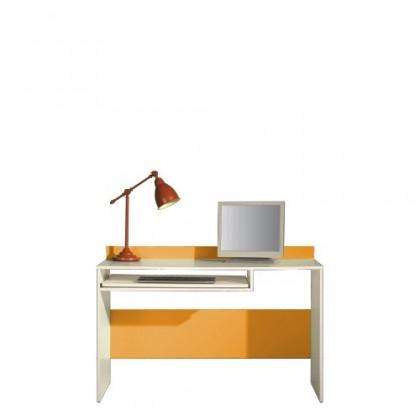 Kancelářský stůl LABYRINT LA 19 (krémová/oranžová)