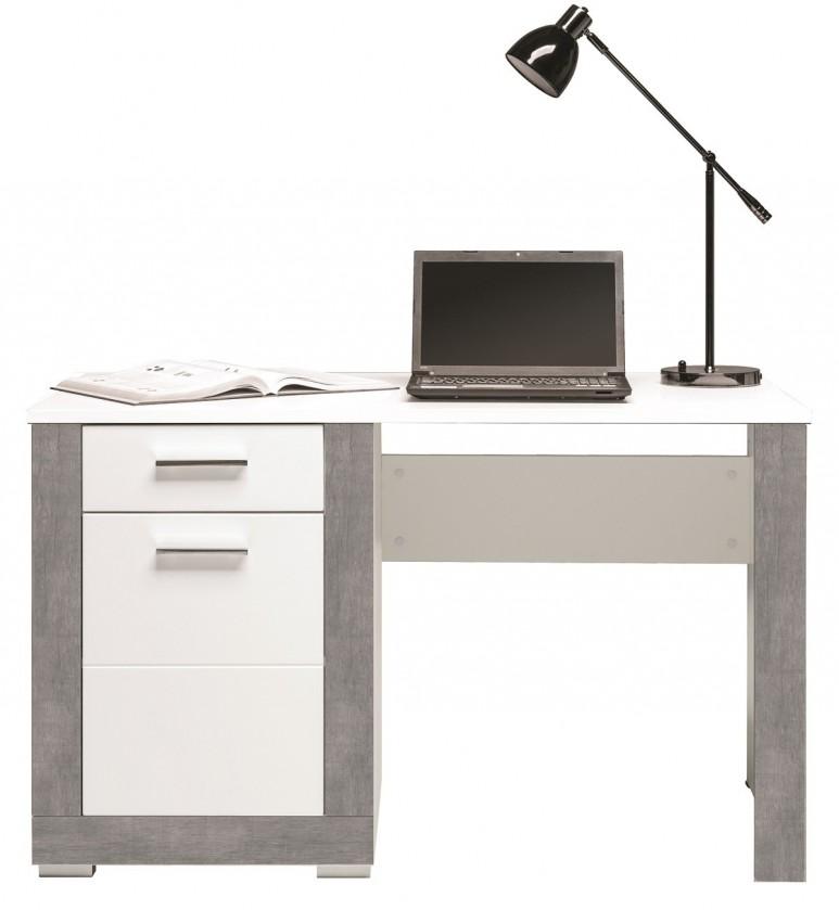 Kancelářský stůl Lightning - Psací stůl (bílá, šedá)