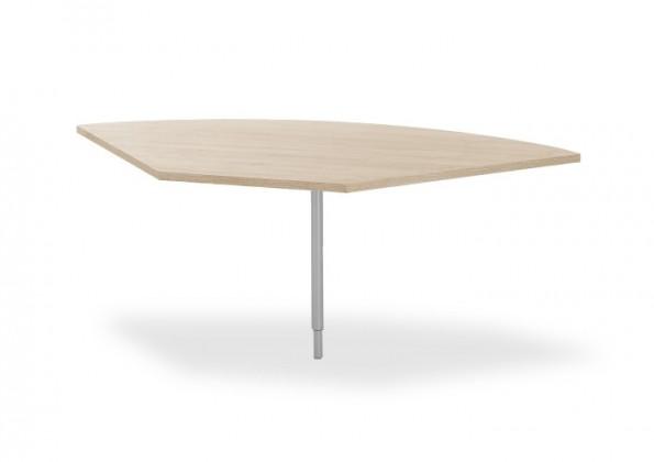 Kancelářský stůl Ohio - spojovací roh stolu, kulatý (dub sonoma)