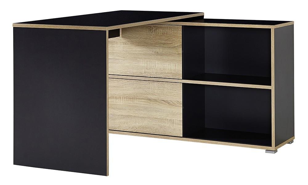 Kancelářský stůl Slide - stůl se skříňkou (antracit/dub sonoma)