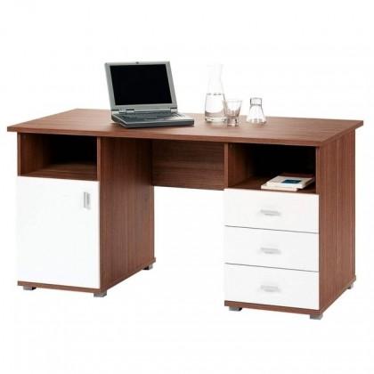 Kancelářský stůl Trendi TDB95 (Ořech vlašský/Bílá)