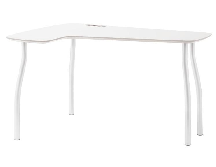 Kancelářský stůl Wing - levý roh (bílá)