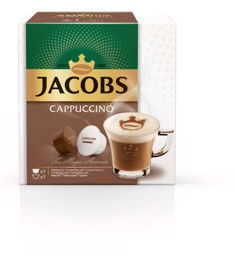 Kapsle, náplně Kapsle Jacobs Cappuccino 7+7 ks