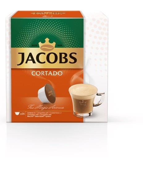 Kapsle, náplně Kapsle Jacobs Cortado 14 ks