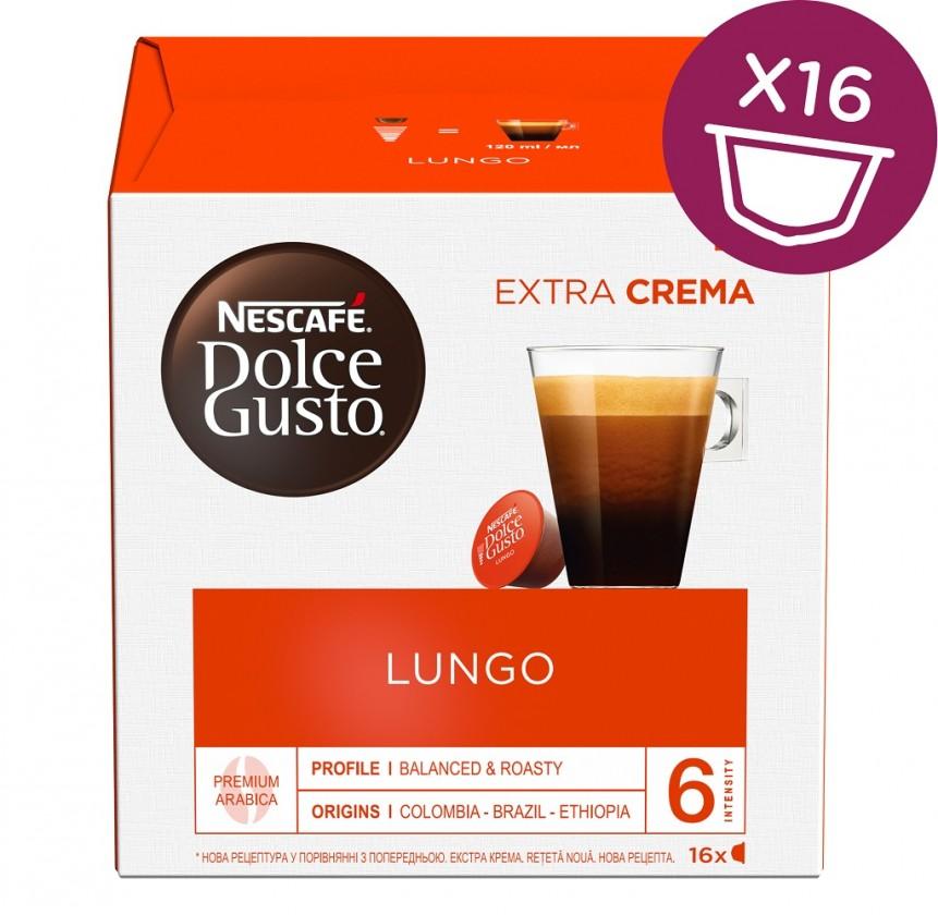 Kapsle, náplně Kapsle Nescafé Dolce Gusto Caffé Lungo Mild, 16ks