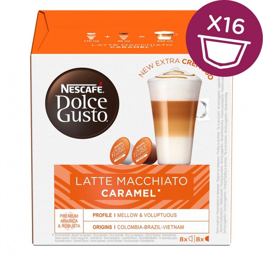 Kapsle, náplně Kapsle Nescafé Dolce Gusto Latte Macchiatto Caramel, 16ks