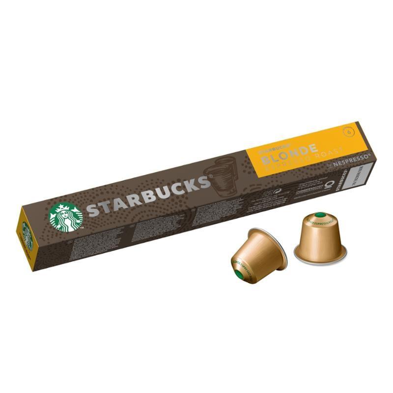 Kapsle, náplně Kapsle Nespresso Starbucks Blonde Espresso Roast, 10ks