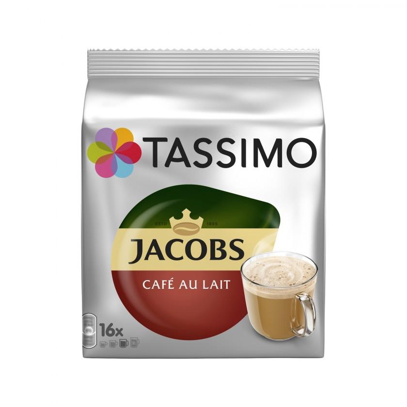 Kapsle, náplně Kapsle Tassimo Jacobs Cafe Au Lait, 16ks