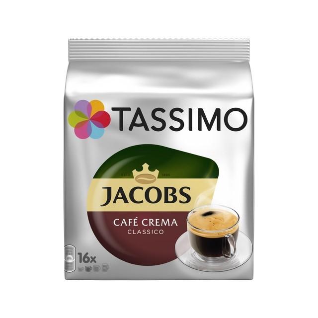 Kapsle, náplně Kapsle Tassimo Jacobs Caffe Crema, 16 ks
