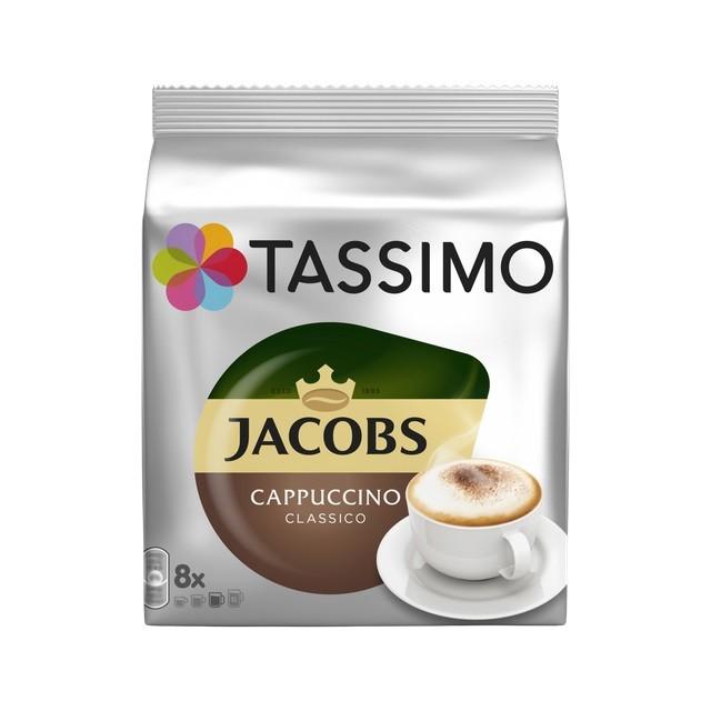 Kapsle, náplně Kapsle Tassimo Jacobs Cappuccino, 8+8ks