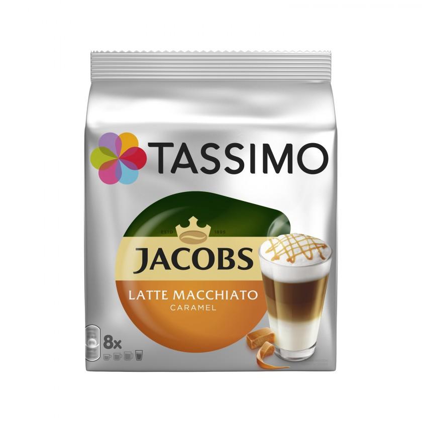 Kapsle, náplně Kapsle Tassimo Jacobs Latte Macchiato Caramel 8+8 ks