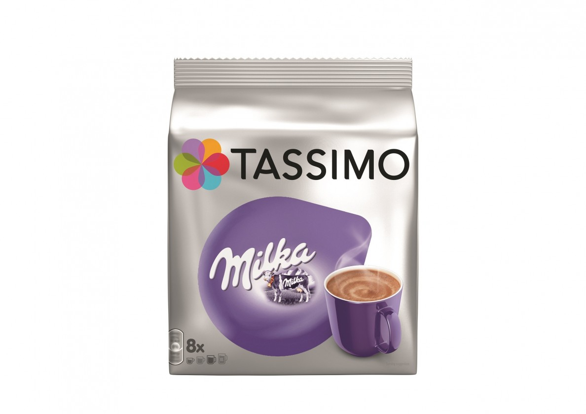 Kapsle, náplně Kapsle TASSIMO Milka 8+8 ks, 240 g