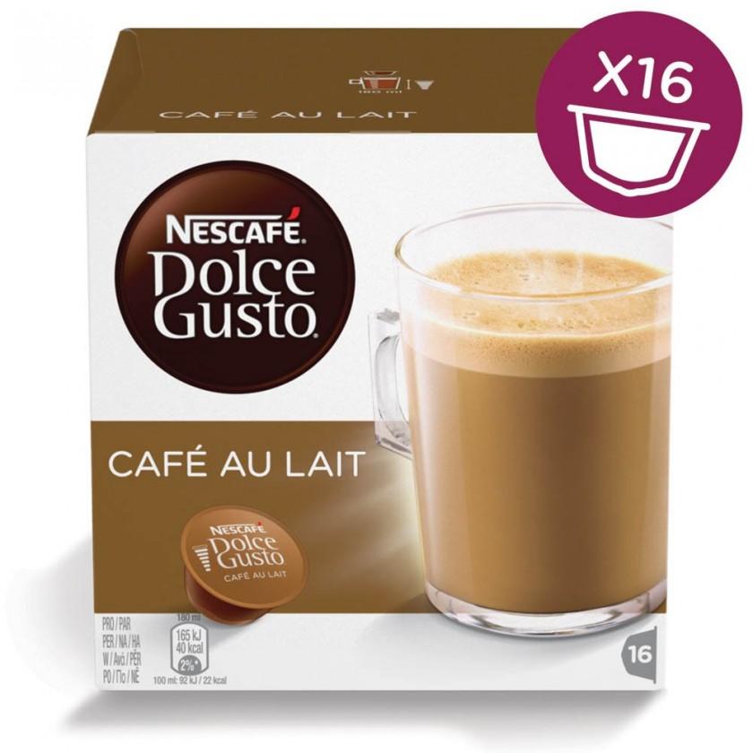 Kapsle, náplně Nescafé Dolce Gusto Café Au Lait 16ks