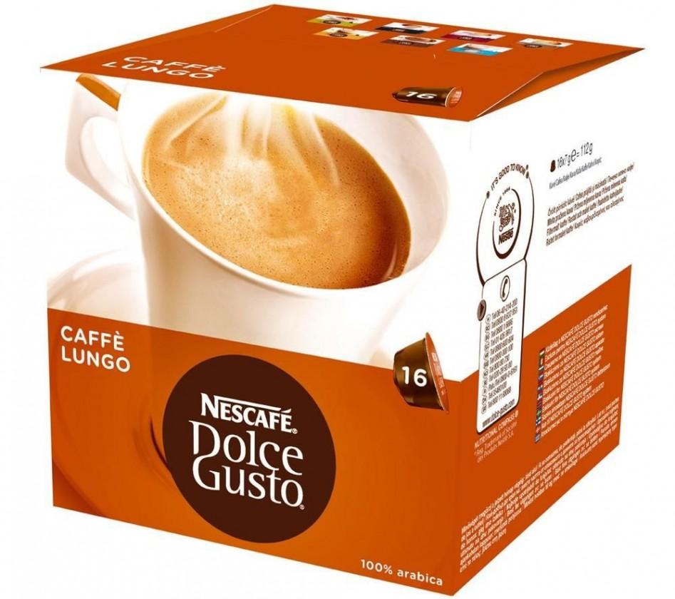 Kapsle, náplně Nescafé Dolce Gusto Caffé Lungo Mild 16ks