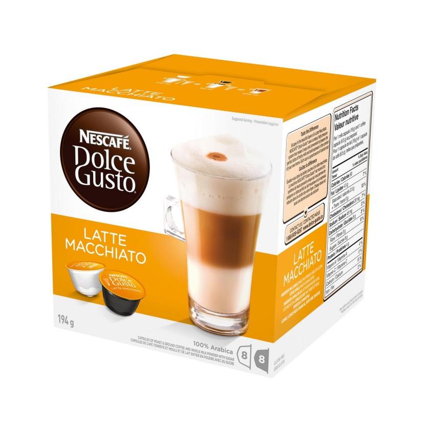 Kapsle, náplně Nescafé Dolce Gusto Latte Macchiato 16ks