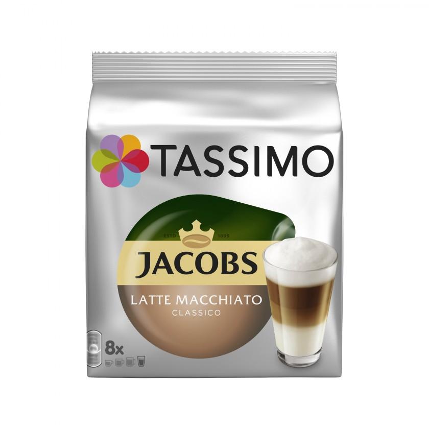 Kapsle, náplně Tassimo Jacobs Latte Macchiato 264g