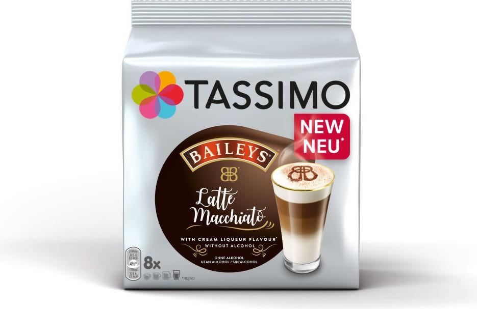 Kapsle, náplně Tassimo Latte Macchiato Baileys, 8+8ks
