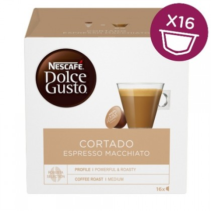 Kapsle Nescafé Dolce Gusto Cortado, 16ks