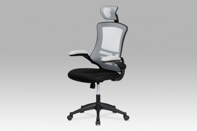 Kasper Grey - Kancelářská židle (šedá, černá)