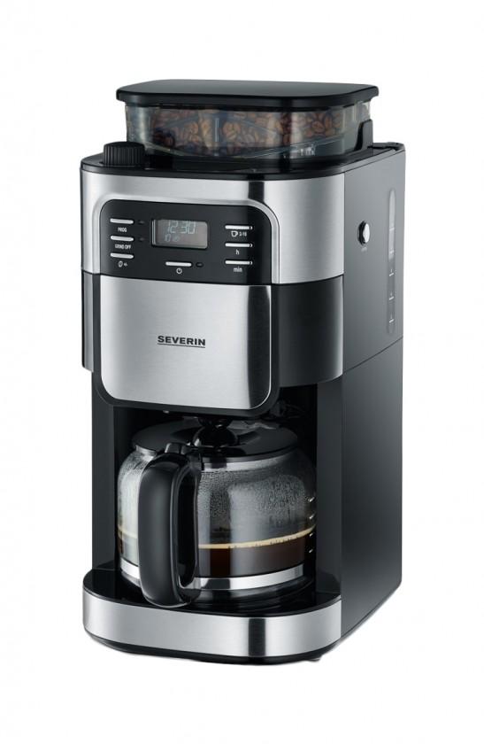 Kávovar Kávovar Severin KA4810, nerez/černá, s kávomlýnkem