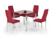 Kent - Jídelní stůl (červená)