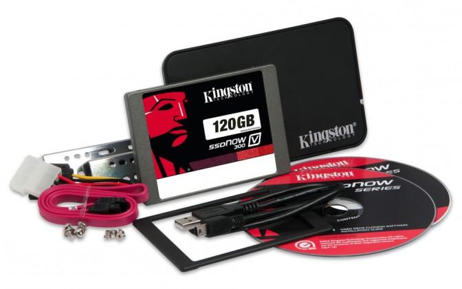 Kingston 120GB SSDNow V300 SATA 3 2.5 Upgrade Bundle Kit