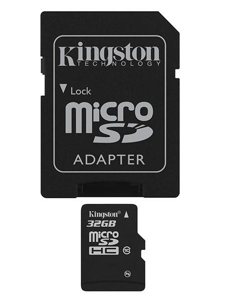 Kingston Micro SDHC 32GB Class 10 + adaptér - SDC10/32GB ROZBALEN
