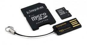 Kingston Micro SDHC 32GB Class 10 + USB čtečka, adaptér