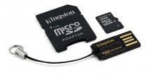 Kingston Micro SDHC 32GB Class 10 + USB čtečka, adaptér