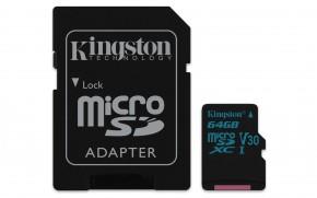 Kingston Micro SDXC Canvas Go! 64GB + SD adaptér SDCG2/64GB