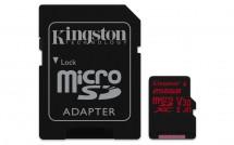 Kingston Micro SDXC Canvas React 256GB 100MB/s UHS-I+SD adaptér