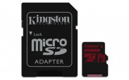 Kingston Micro SDXC Canvas React 256GB 100MB/s UHS-I+SD adaptér