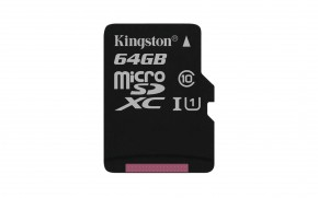 Kingston Micro SDXC Canvas Select 64GB 80MB/s UHS-I  SDCS/64GBSP
