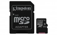 Kingston Micro SDXC Canvas Select 64GB + SD adaptér  SDCS/64GB