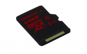 Kingston MicroSDXC 64GB UHS-I U3 (90MB/s) (SDCA3/64GBSP)