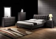 Kirsty - Postel 200x160, rám postele, rošt (černá)