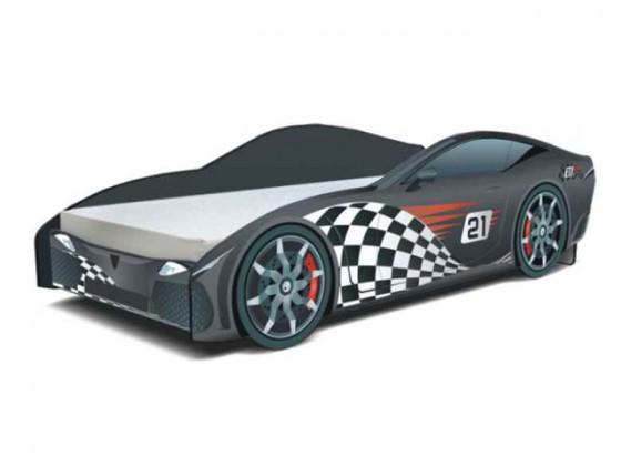 Klasická postel Cars - Dětská postel (F1 černá)