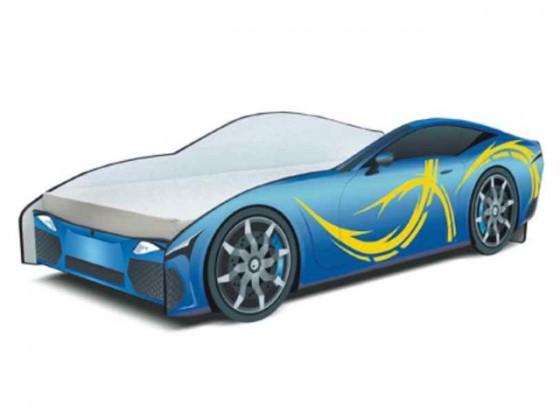 Klasická postel Cars - Dětská postel (modrá)